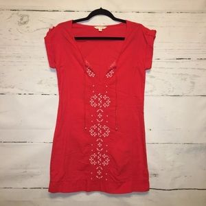 American Eagle Outfitters Embroidered Boho Dress